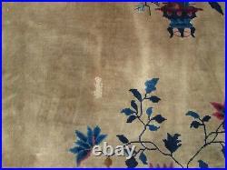 11'8''x9 Antique'Art Deco Chinese Rug