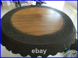 1800's Antique Chinese Hand Carved Wooden Table