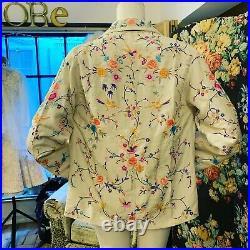 1920s Chinese Chinoiserie Silk Jacket