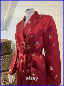 1930s True Vintage Chinese Robe Dressing Gown Housecoat Dress Kimono
