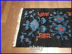 3x5 Chinese Tibetan Rug Antique Art Deco Authentic 100% Wool Oriental Rug