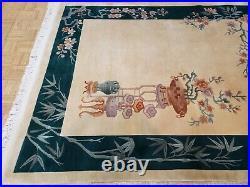 6x9 Chinese Rug Vintage Peking Aubusson Authentic 100% Wool Oriental Rug Fine