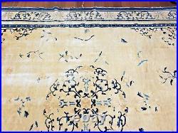 8x10 ANTIQUE CHINESE RUG VINTAGE ART DECO PEKING 100% WOOL ORIENTAL RUG CA 1890