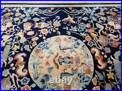 8x10 CHINESE RUG VINTAGE ART DECO AUTHENTIC HANDMADE 100% WOOL ORIENTAL RUG FINE