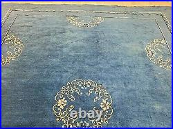 9x12 CHINESE RUG ANTIQUE CIRCA 1900 ART DECO AUTHENTIC 100% WOOL ORIENTAL RUG