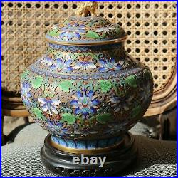 A Chinese Vintage On Bronze Lidded Jar