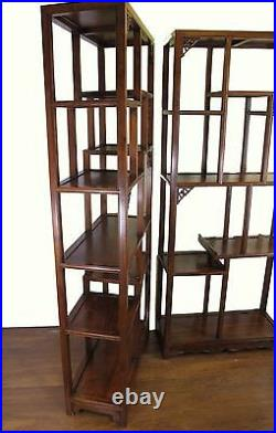 A Pair of Chinese Rose Wood Bookcase / Display Shelf Tall Cabinet Furniture