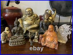 A bundle of antique & vintage Buddhas. Tibetan, Chinese, Indian