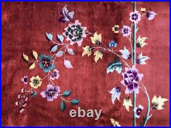 An Antique 9' x 12' Art Deco Chinese Rug