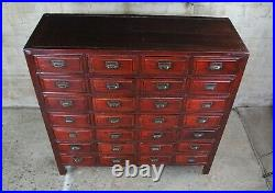 Antique 28 Drawer Chinese Elm Apothecary Chest Medicine Cabinet Console Filing
