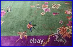 Antique Art Deco Chinese Carpet, 8'10 X 11'7 #17241, The Most Beautiful
