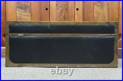 Antique Chinese Camphor Leather & Brass Footlocker Trunk Storage Chest Box 31