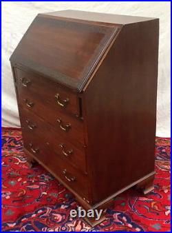 Antique Chinese Chippendale Styled Mahogany Slant LID Desk In Desirable Size