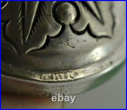 Antique Chinese Export Silver Footed Vase Chop Mark foot c 1900 8.3 cm Woshing