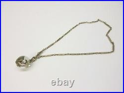 Antique Chinese rock crystal Pools of Light pendant on watch fob necklace