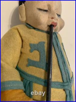 Antique Lenci Chinese Opium Smoker 11