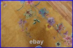 Antique Mango Chinese Art Deco Rug Size 8'10''x11'3'