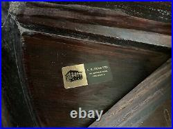 Antique Qing Chinese Rosewood Tea Table with 4 Nesting Stools, Singapore Label