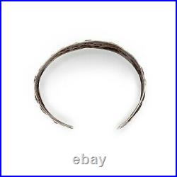 Antique Vintage Art Deco Sterling Silver Chinese French Indochina Cuff Bracelet