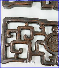 Antique Vintage Chinese Carved Decorative Architectural Fragments Wall Panels