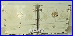 Antique/Vtg 8pc Chinese Ivory Lacquer Bedroom Set Dresser Nightstands Desk Chest