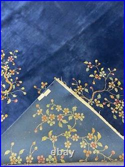 Antique art deco chinese rug in original condition #9324 9x12
