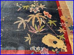 Antique chinese art deco rug As Is