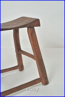 Antique chinese wooden stool