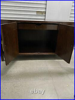 BAKER FURNITURE Chinese Chippendale Style Walnut Buffet Cabinet