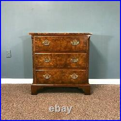 Baker Furniture Chinese Chippendale Style Mahogany & Burl Bachelor Chest