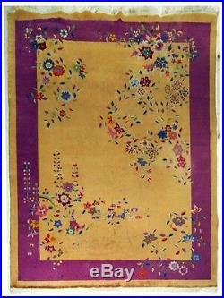 Beautiful Vintage Nichols Chinese Art Deco Rug c. 1920 #5213