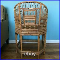 Chinese Chippendale Bamboo Cane Regency Chair Chinoiserie Charlotte Horstmann