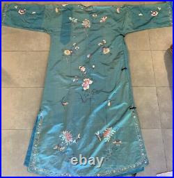 Chinese Embroidered Vintage Silk Robe
