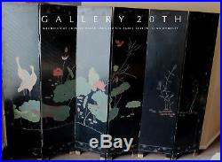Chinese Six Panel Black Lacquer Screen! Coromandel Folding Art Vtg Room Divider
