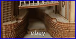 Chinese Village Alley Book Nook Book Shelf Insert Bookcase with Light Model