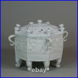 Chinese blanc de chine Marco Polo censer and cover, Kangxi (1662-1722)