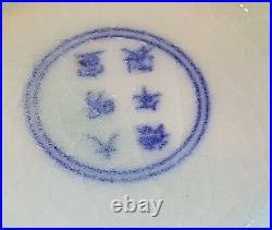 Chinese export celadon glaze vintage Victorian oriental antique character bowl