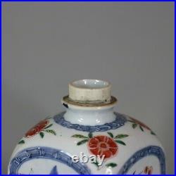 Chinese famille verte gin flask, Kangxi (1662-1722)