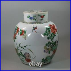 Chinese famille-verte ginger jar and cover, Kangxi (1662-1722)