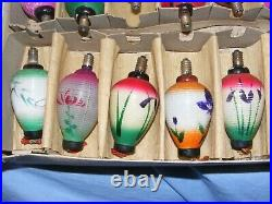 Christmas Pifco Figural Chinese Lantern Light Bulb Vintage Glass Old Antique 18