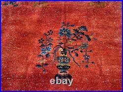 Cir 1920s ANTIQUE ART DECO WALTER NICHOLS CHINESE RUG 9' x 11'3 AMAZING COLORS