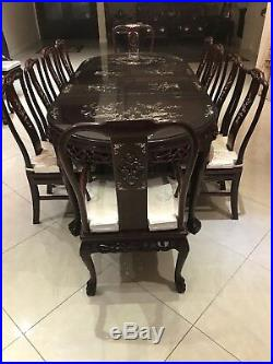 Dining Room Antique Hand Carved Rosewood Chinese set