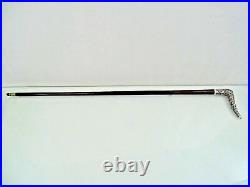 FABULOUS CHINESE EXPORT SILVER WALKING CANE STICK DRAGON BATS sterling ANTIQUE