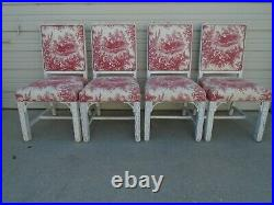 Fretwork 4 Dining Chairs Greek Key Hollywood Regency Chinese Chippendale Four
