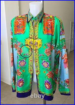 GIANNI VERSACE silk shirt The Chinese Gardener print size IT 50 from ss 1995