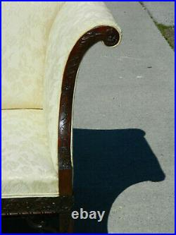 Gorgeous Chinese Chippendale Double Peaked Sofa Settee19th century