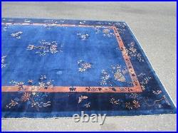 Old estate antique peking art deco chinese oriental rug