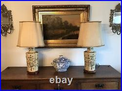 Pair Large Vintage Chinese Lamps