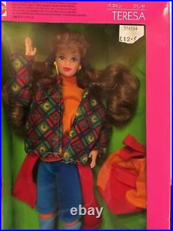 RARE CHINESE EDITION TERESA UNITED COLORS OF BENETTON Barbie NEW- Box Damaged