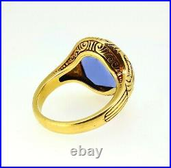 Rare Antique 19th C Chinese Qing Natural Untreated 9.20 Cts Sapphire MEN'S Ring
